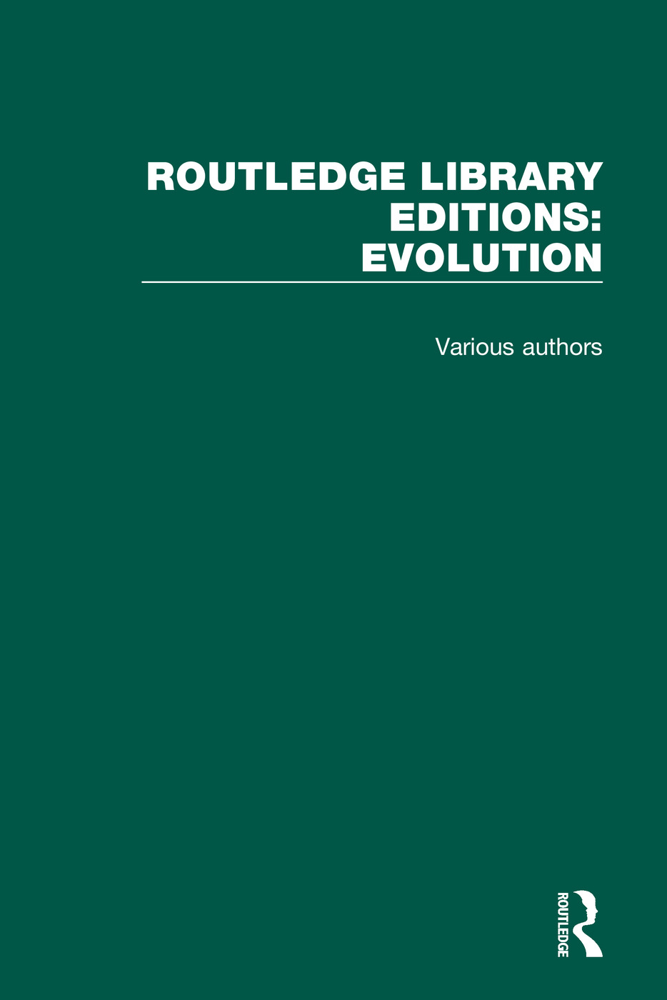 Routledge Library Editions: Evolution book cover