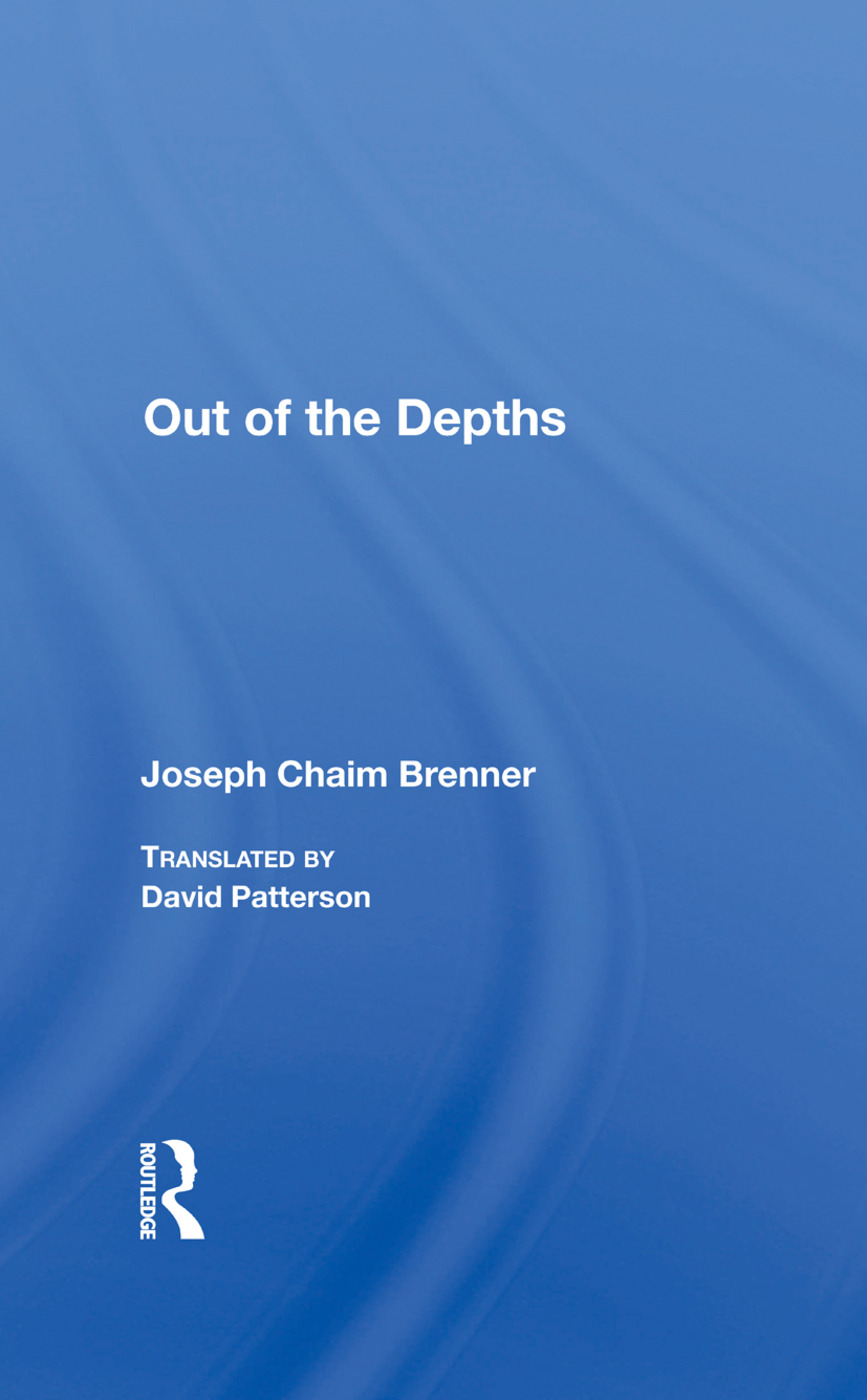 Out Of The Depths: 1st Edition (Hardback) book cover