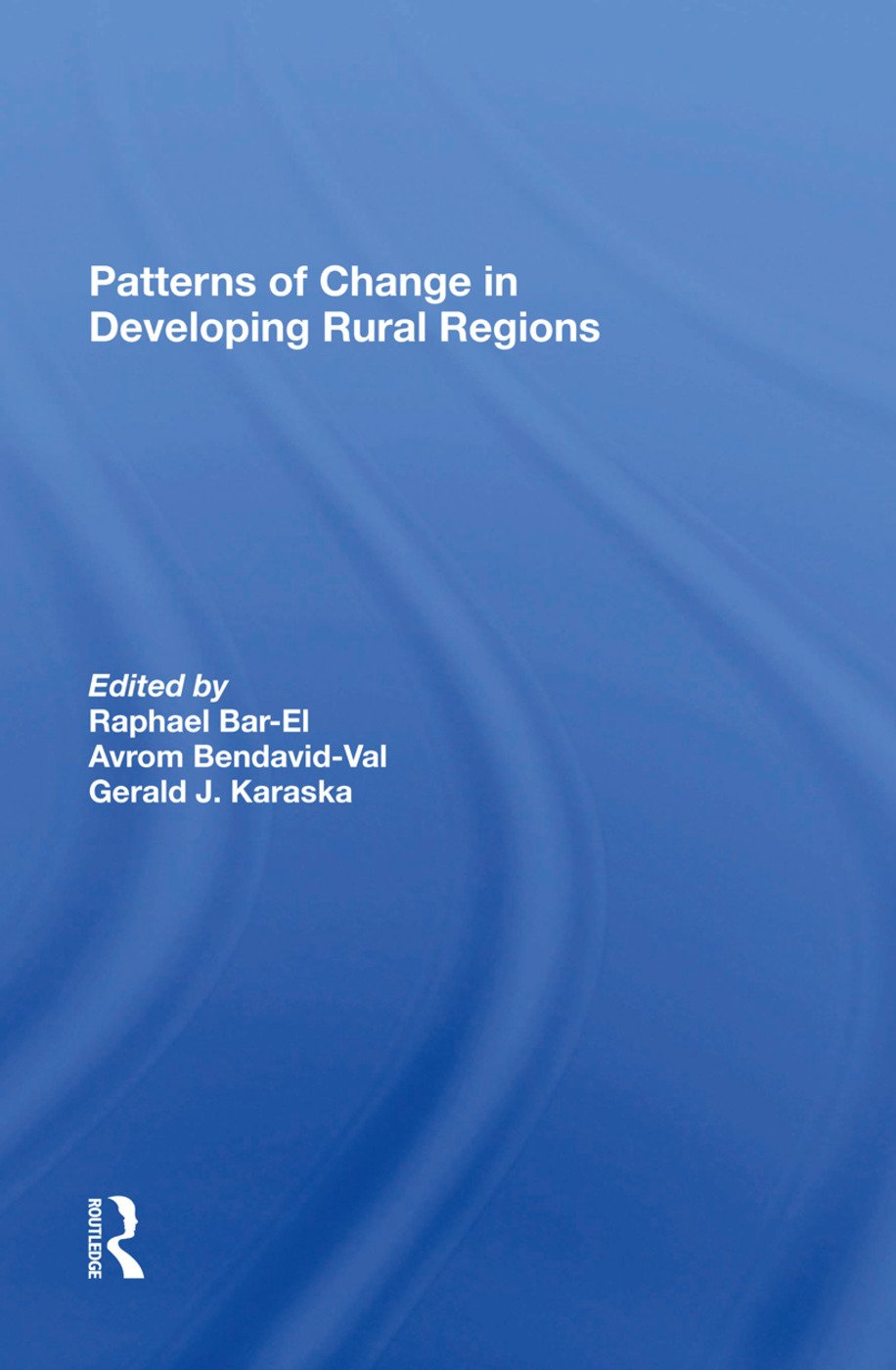 Patterns Of Change In Developing Rural Regions: 1st Edition (Hardback) book cover
