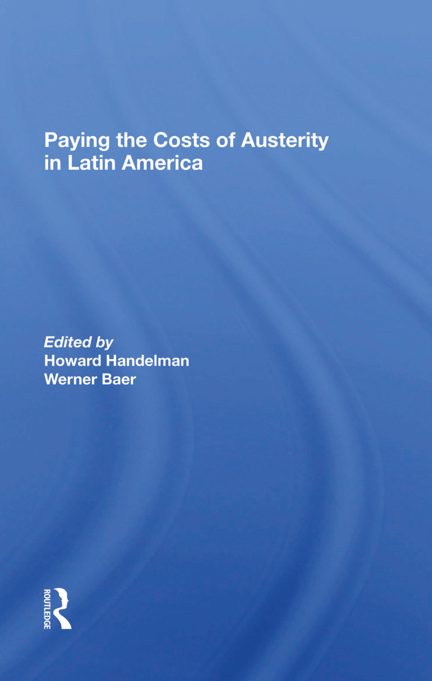 Paying The Costs Of Austerity In Latin America: 1st Edition (e-Book) book cover