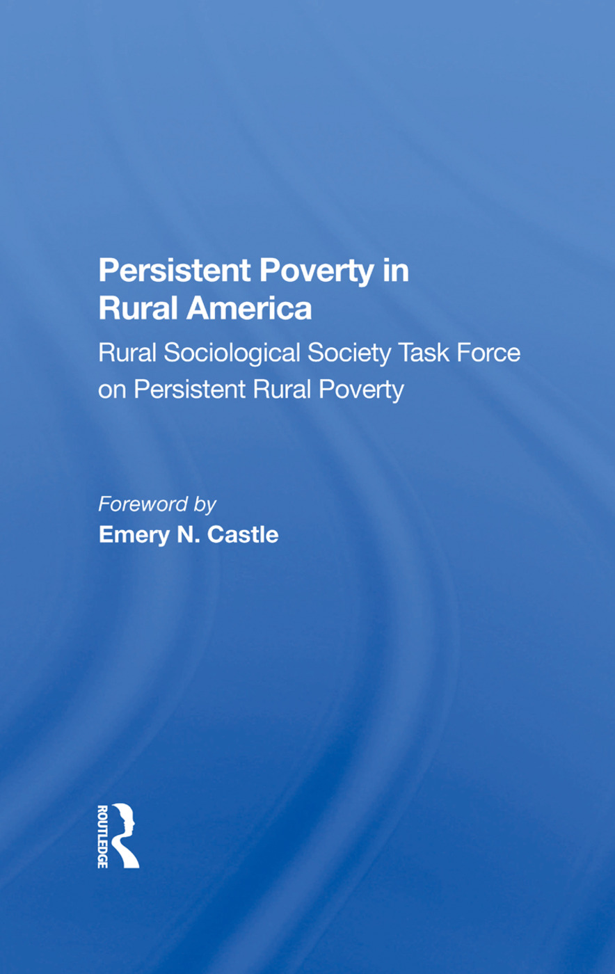 Persistent Poverty In Rural America: 1st Edition (Hardback) book cover