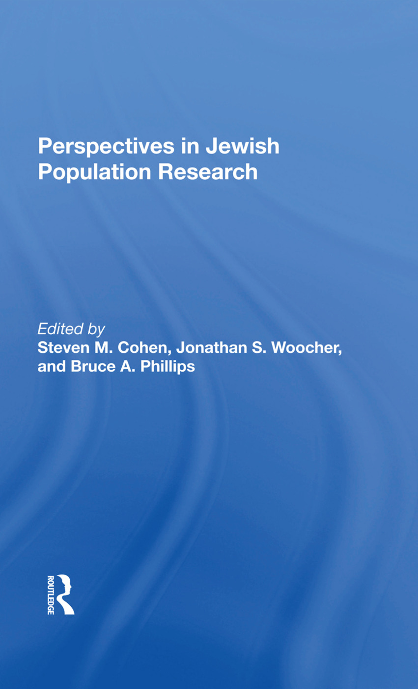 Perspectives In Jewish Population Research: 1st Edition (Hardback) book cover