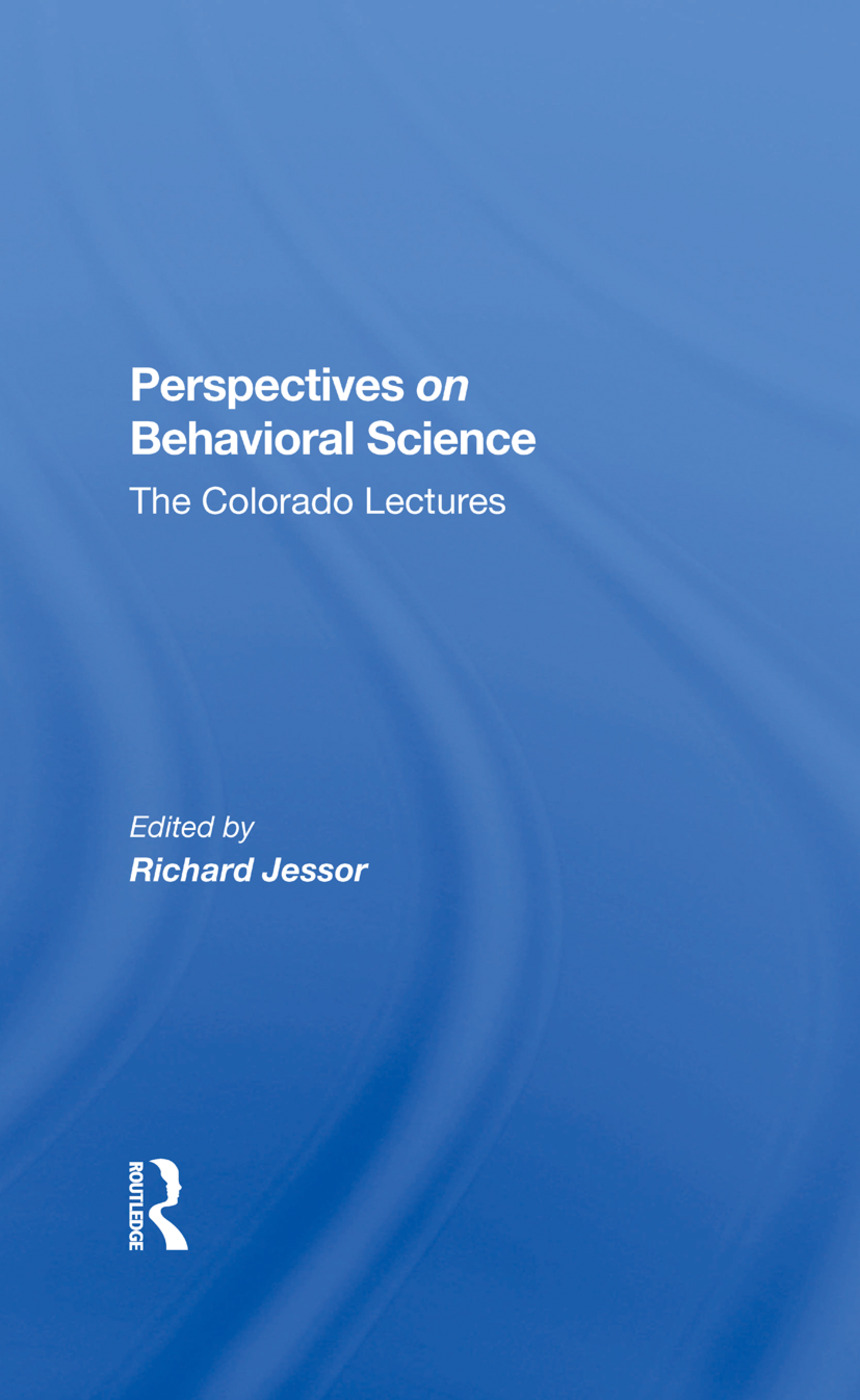 Perspectives on Behavioral Science
