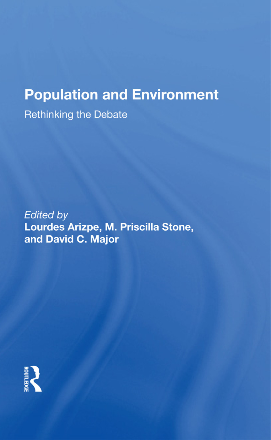 Population And Environment: Rethinking The Debate, 1st Edition (Hardback) book cover