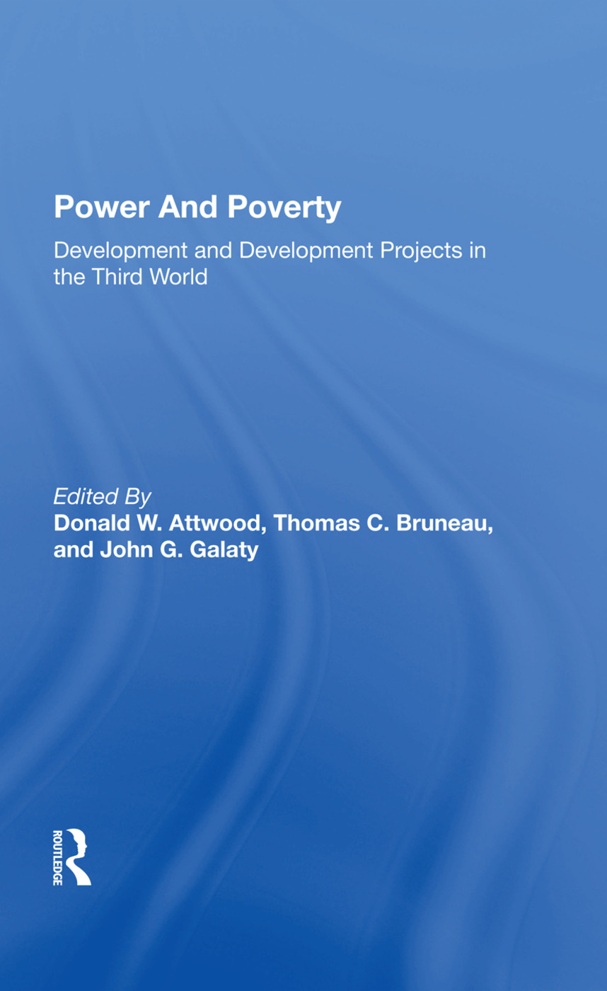 Power And Poverty: Development And Development Projects In The Third World, 1st Edition (Hardback) book cover