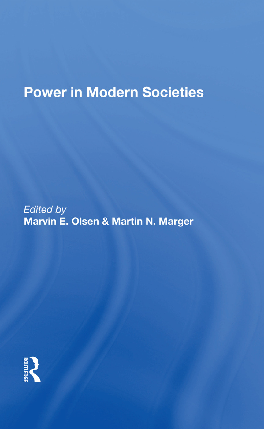 Power In Modern Societies: 1st Edition (Hardback) book cover