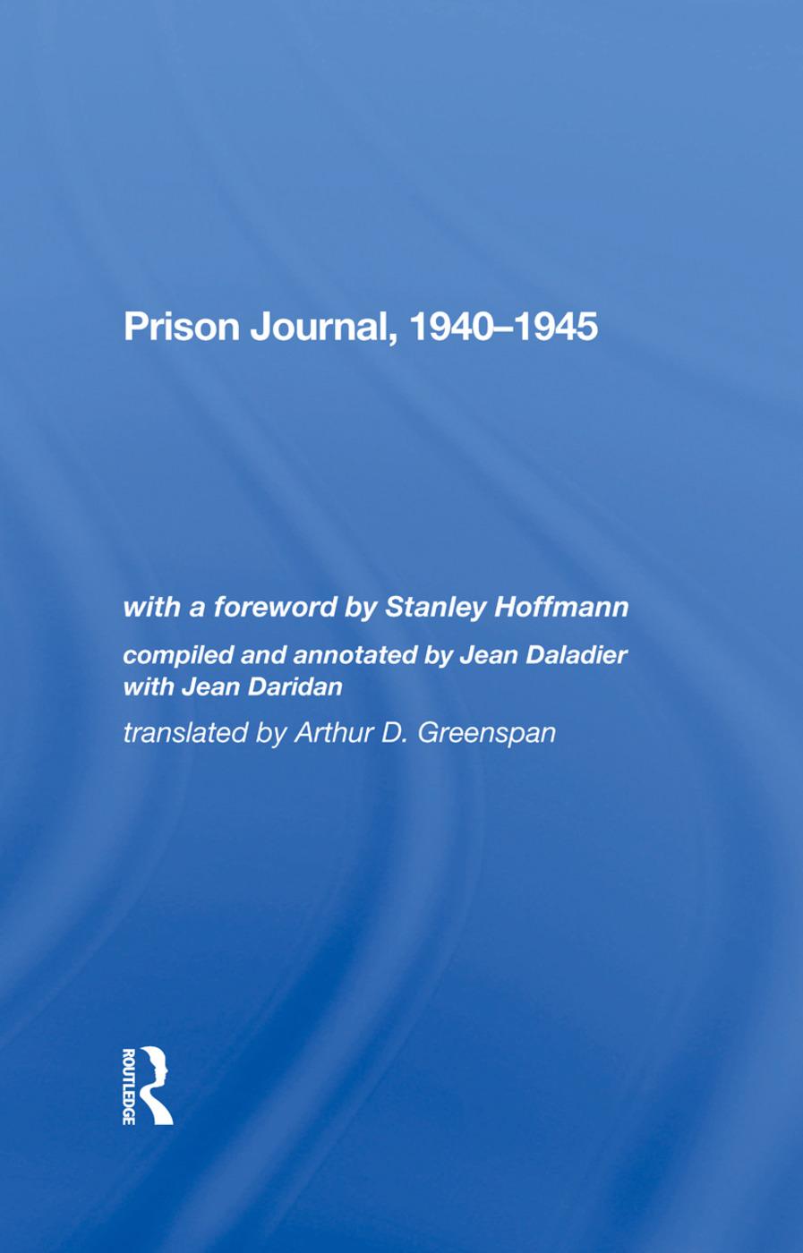 Prison Journal, 19401945: 1st Edition (Hardback) book cover