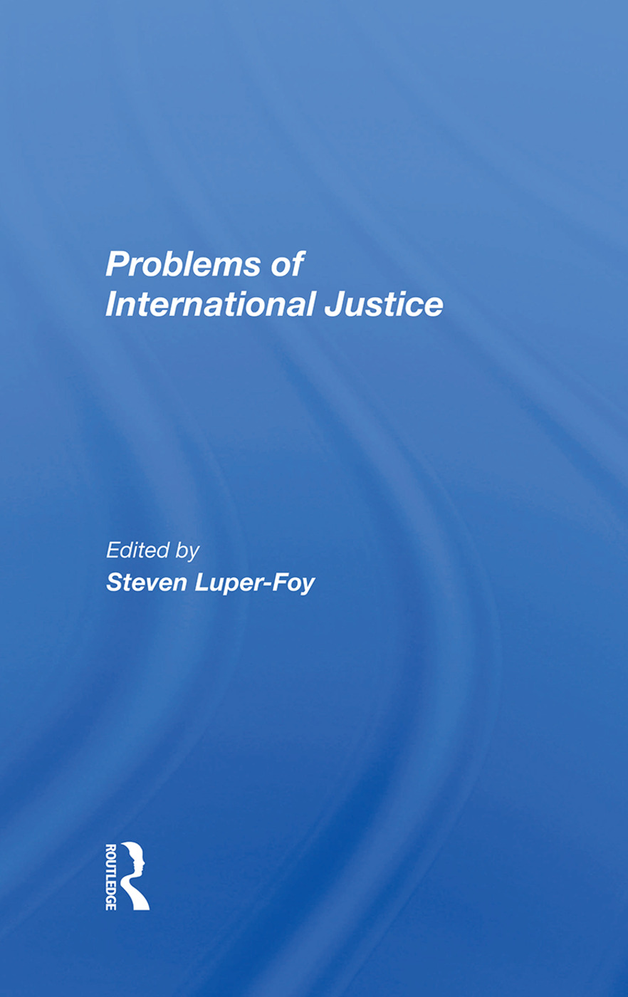 Problems Of International Justice: 1st Edition (Hardback) book cover