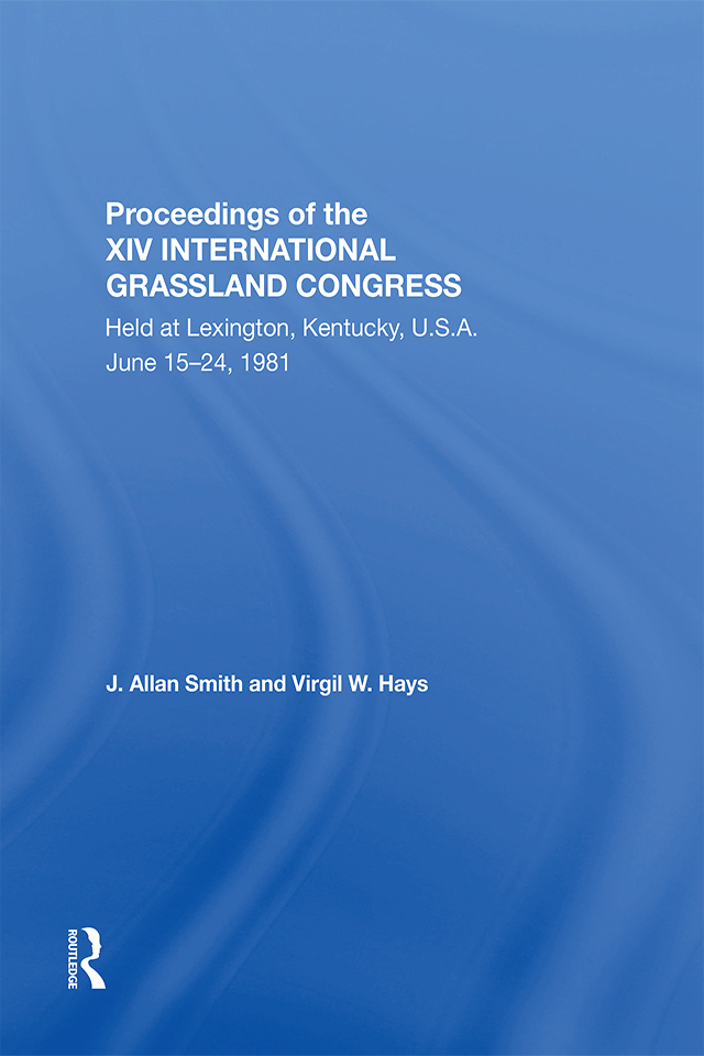 Proceedings Of The Xiv International Grassland Congress: 1st Edition (Hardback) book cover