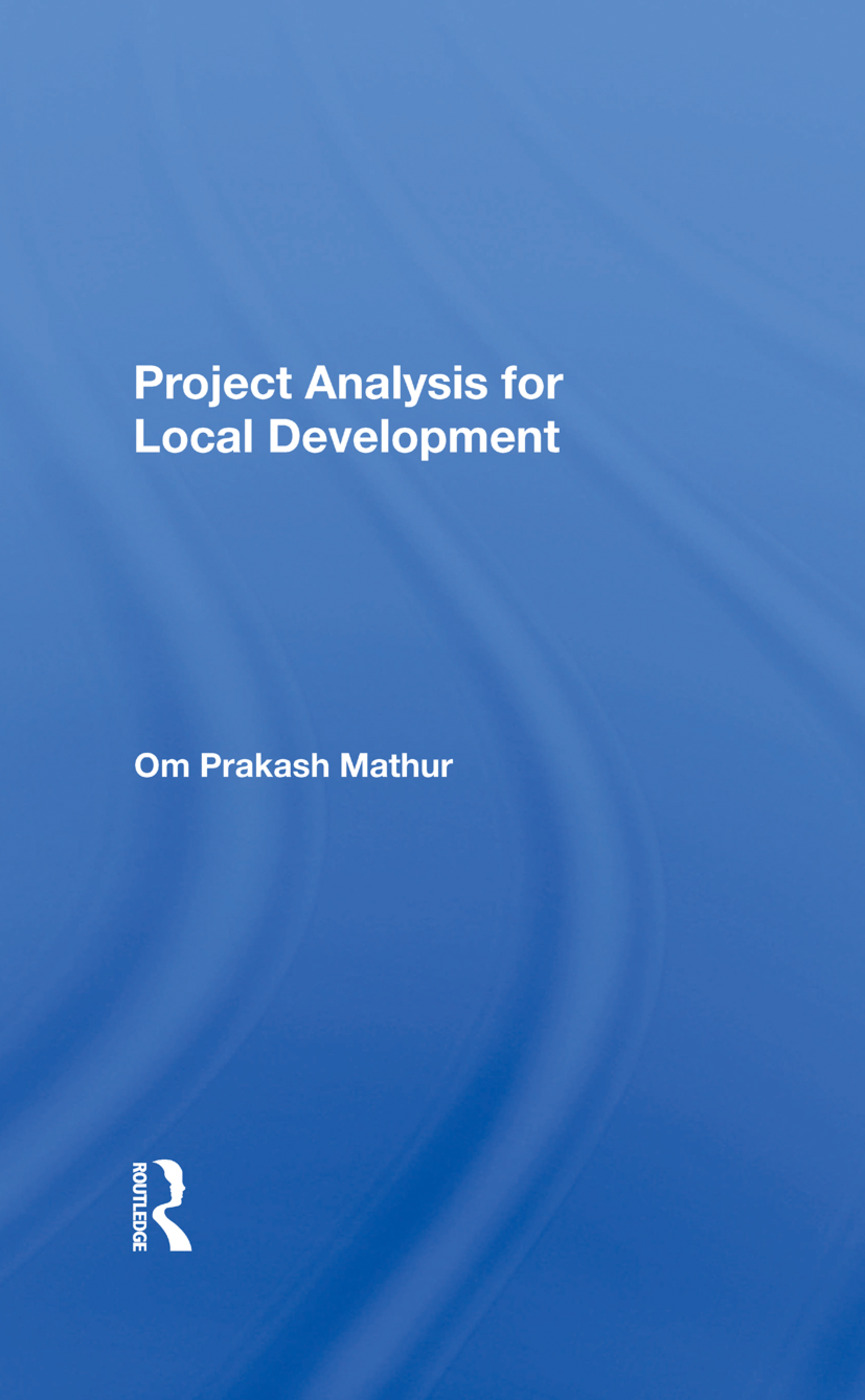 Project Analysis For Local Development: 1st Edition (e-Book) book cover