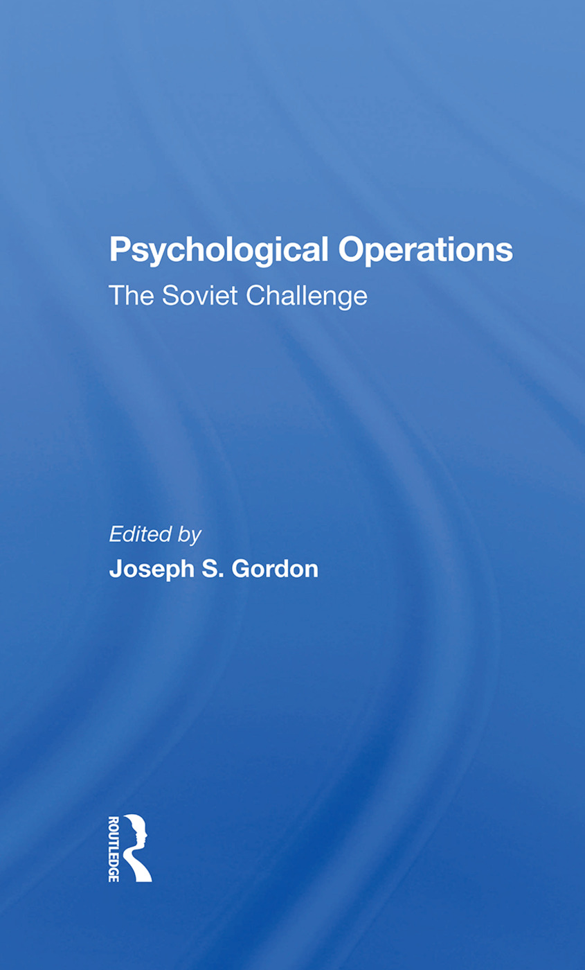 Psychological Operations: The Soviet Challenge, 1st Edition (e-Book) book cover