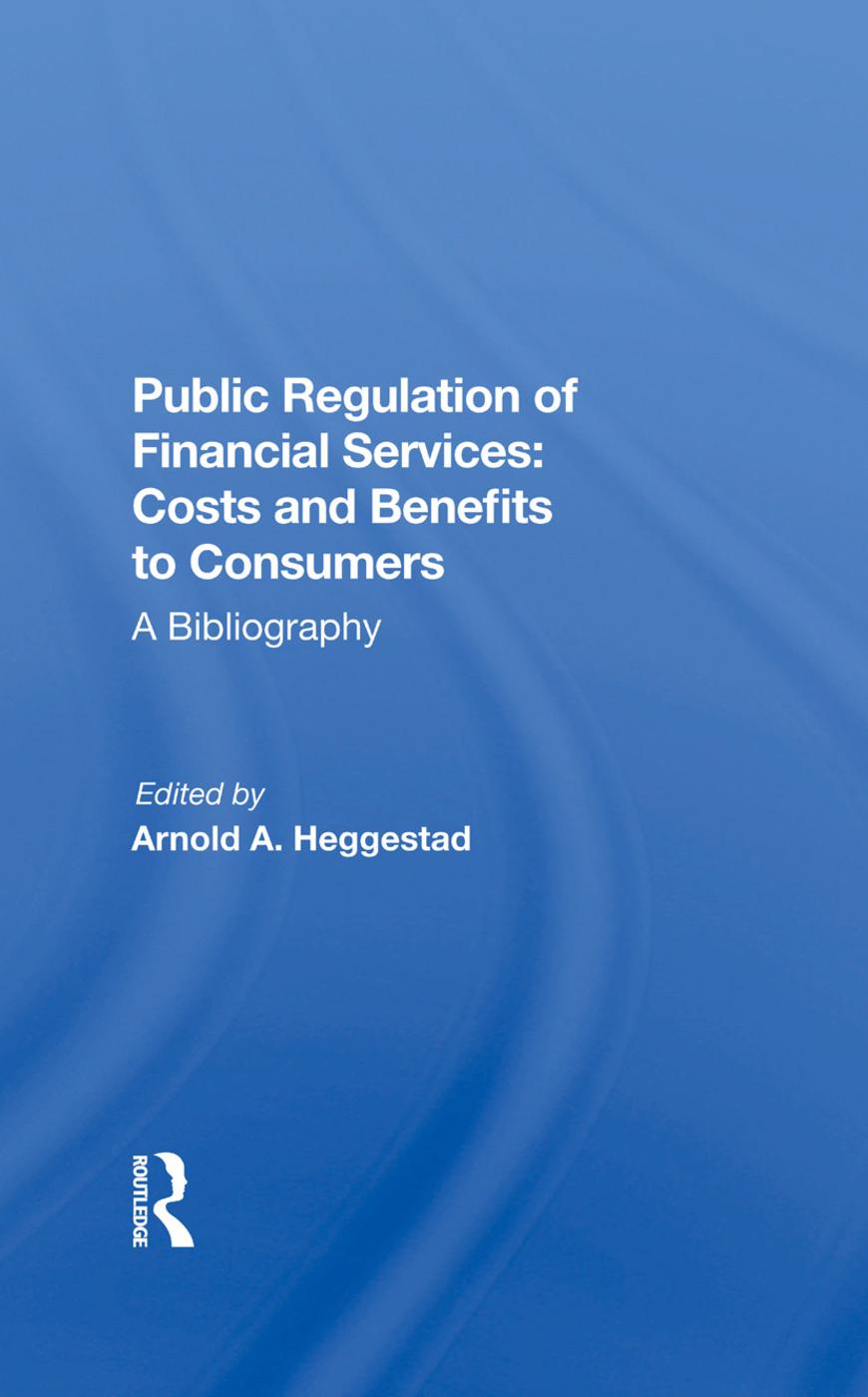Public Regulation Financ/h: 1st Edition (Hardback) book cover