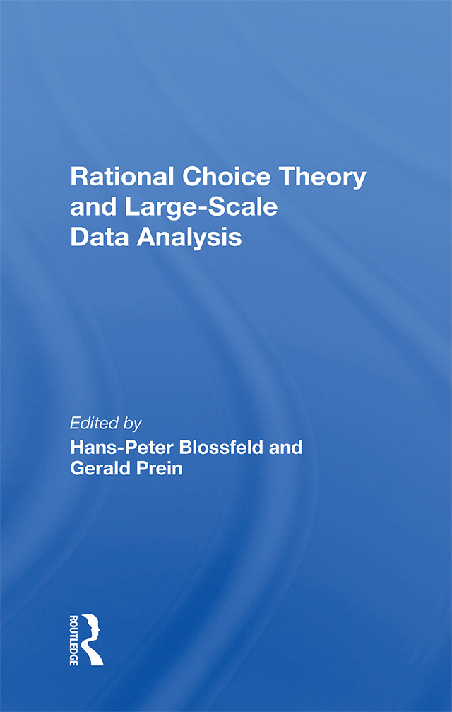 Rational Choice Theory And Large-Scale Data Analysis: 1st Edition (e-Book) book cover