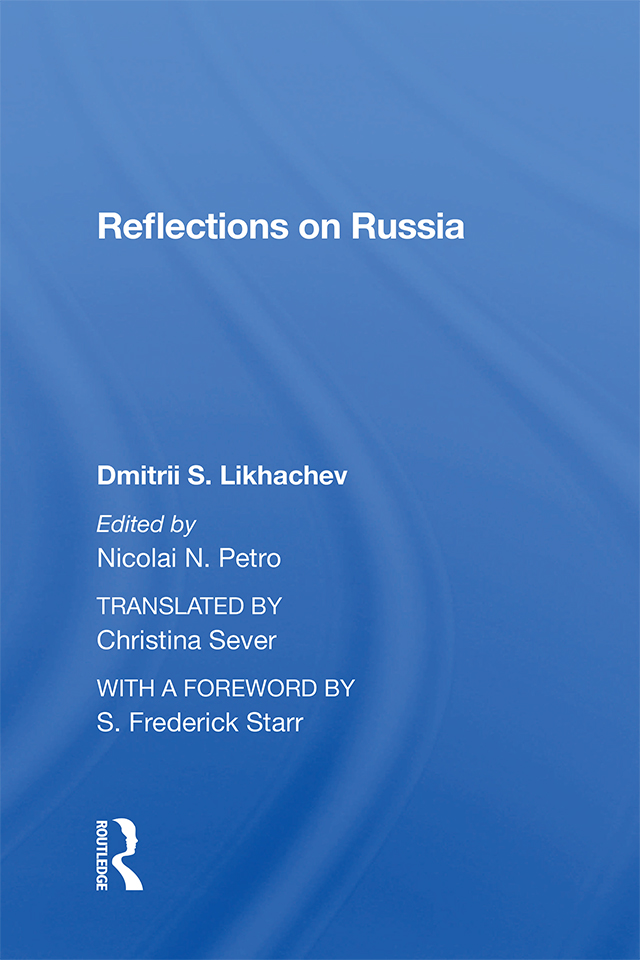 Reflections On Russia: 1st Edition (Hardback) book cover