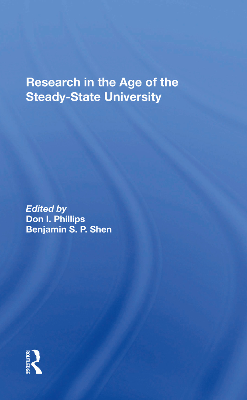 Research In The Age Of The Steadystate University: 1st Edition (Hardback) book cover