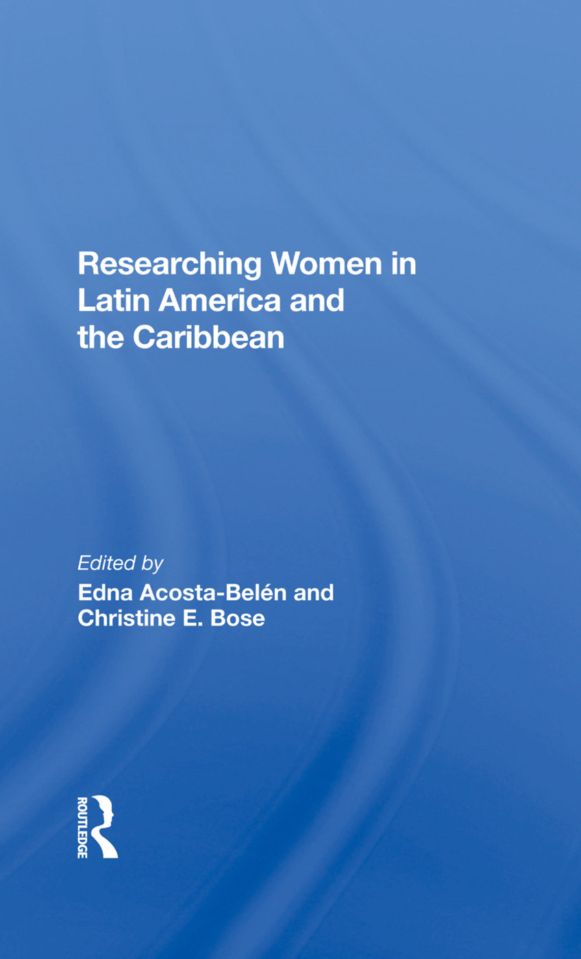 Researching Women In Latin America And The Caribbean book cover