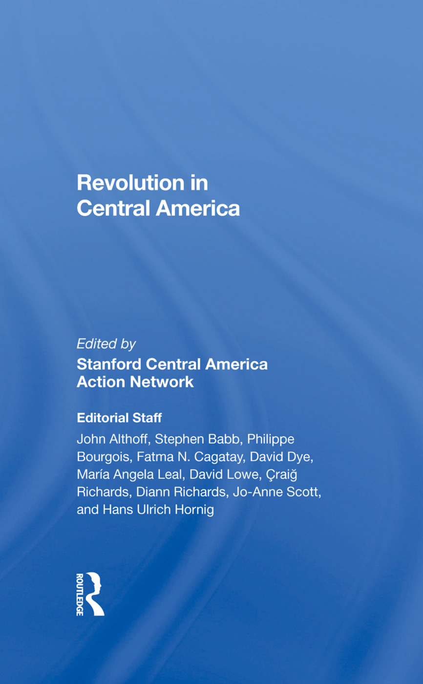 Revolution In Central America: 1st Edition (Hardback) book cover