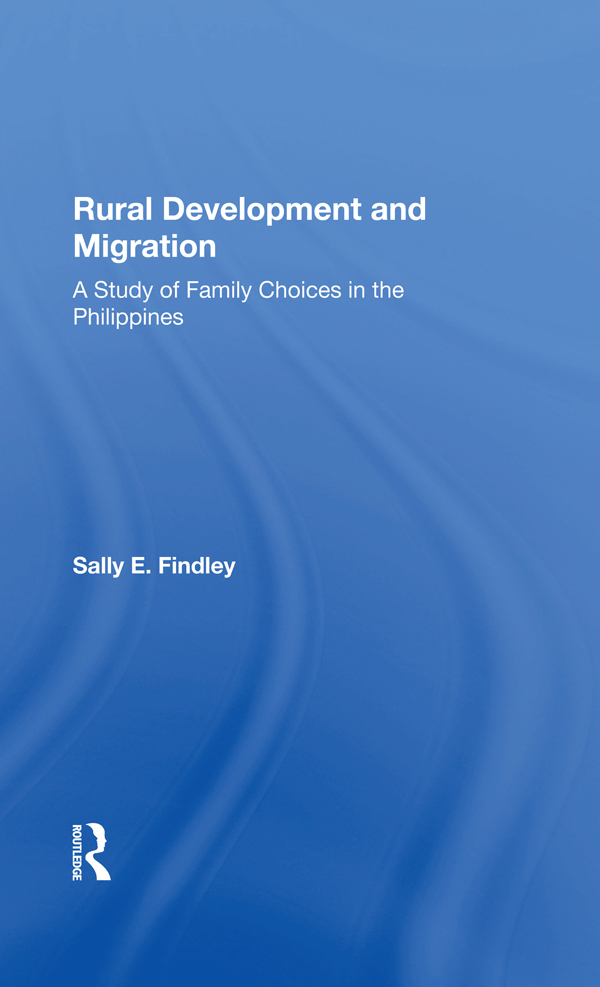 Rural Development And Migration: A Study Of Family Choices In The Philippines book cover