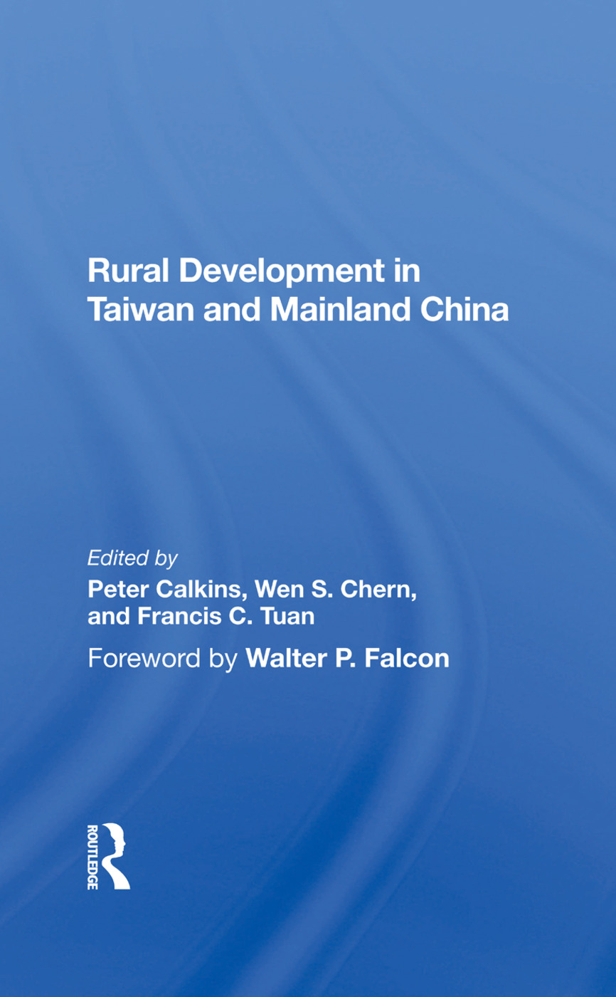 Rural Development In Taiwan And Mainland China: 1st Edition (Hardback) book cover