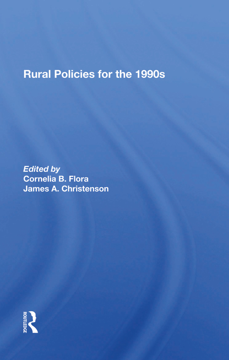 Rural Policies For The 1990s: 1st Edition (Hardback) book cover