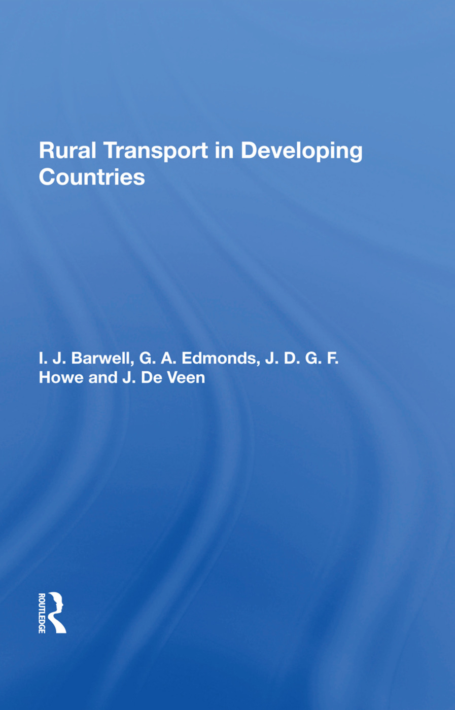 Rural Transport In Developing Countries: 1st Edition (Hardback) book cover