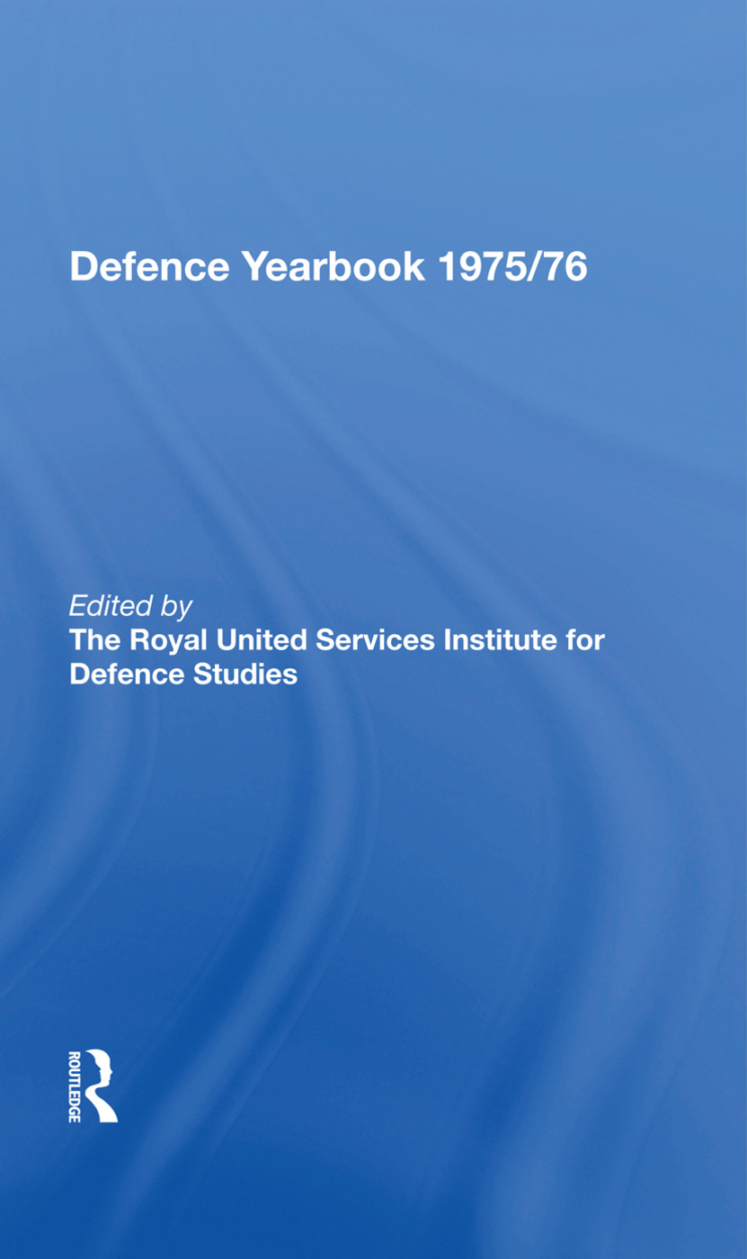 The RUSI and Brassey's Defence Yearbook 1975-1976: 1st Edition (Hardback) book cover