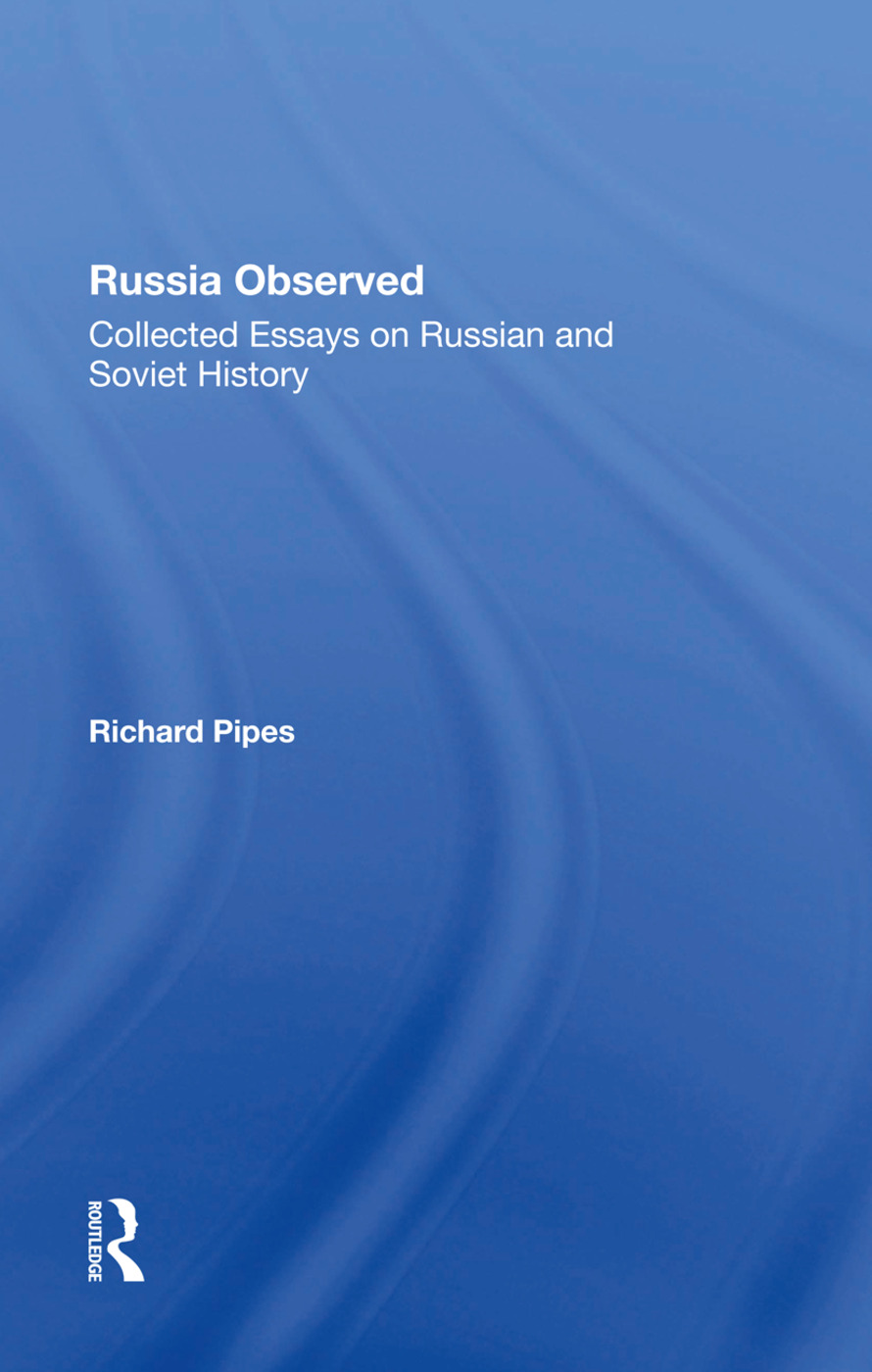 Russia Observed: Collected Essays On Russian And Soviet History, 1st Edition (Hardback) book cover