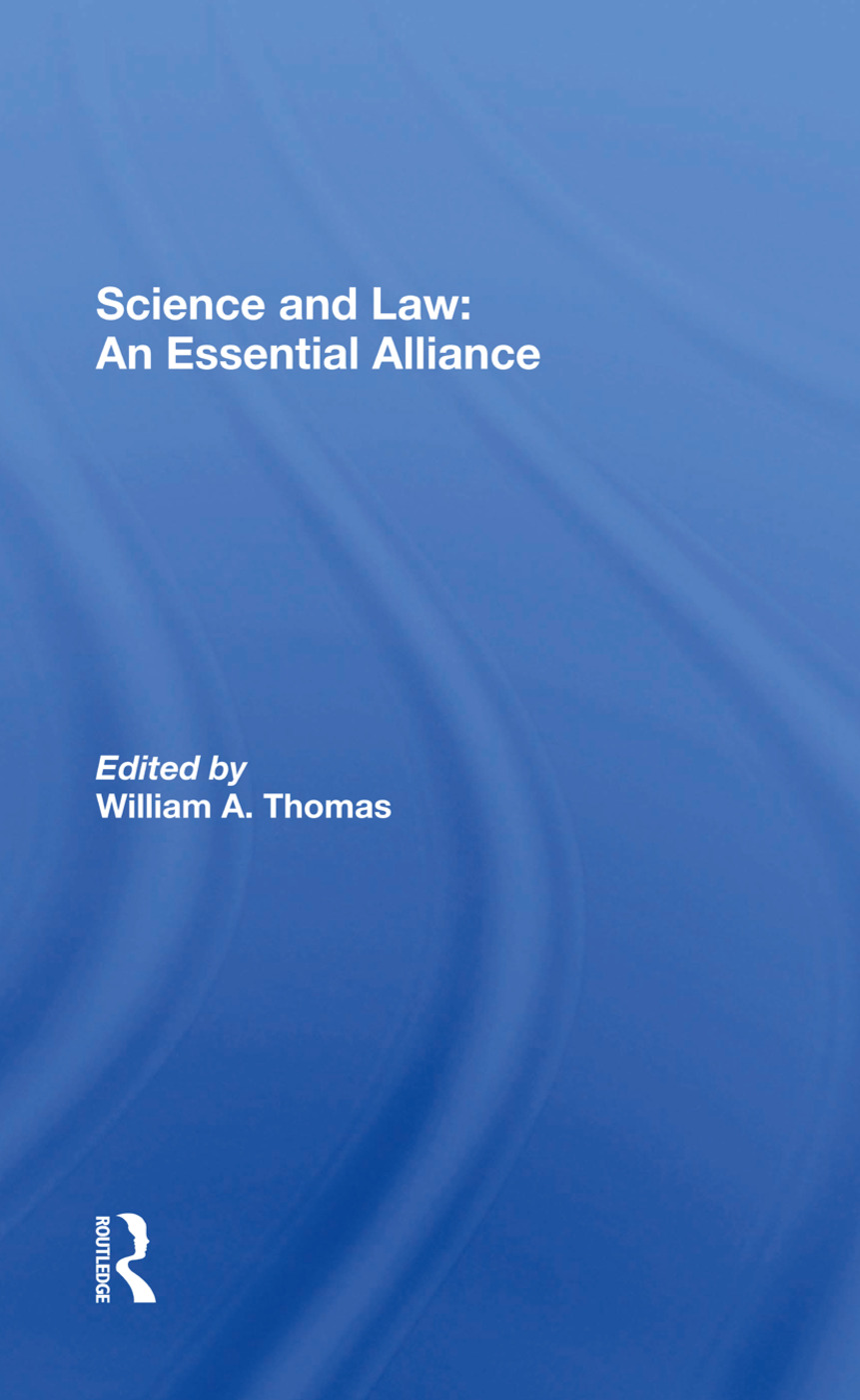 Science And Law: An Essential Alliance, 1st Edition (Hardback) book cover