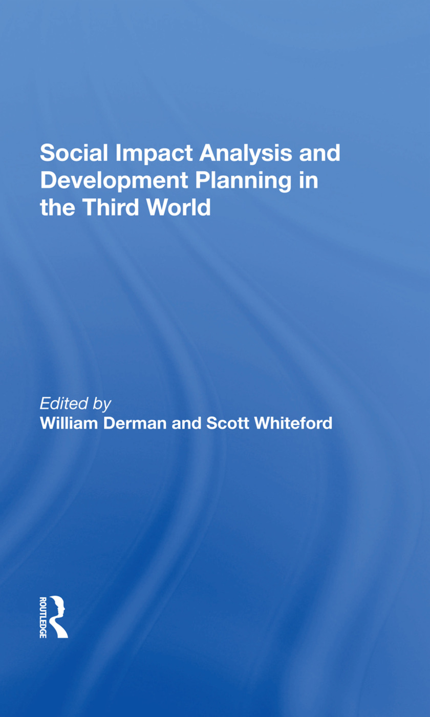 Social Impact Analysis And Development Planning In The Third World: 1st Edition (Hardback) book cover