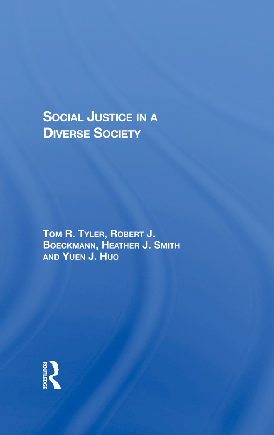 Social Justice In A Diverse Society: 1st Edition (Hardback) book cover