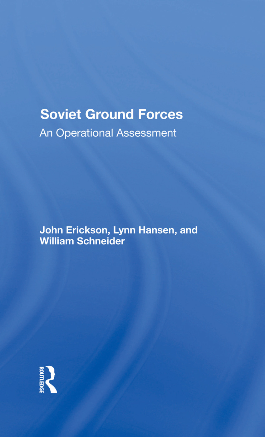 Soviet Ground Forces: An Operational Assessment, 1st Edition (Hardback) book cover