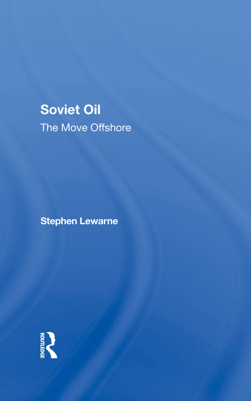 Soviet Oil: The Move Offshore, 1st Edition (Hardback) book cover