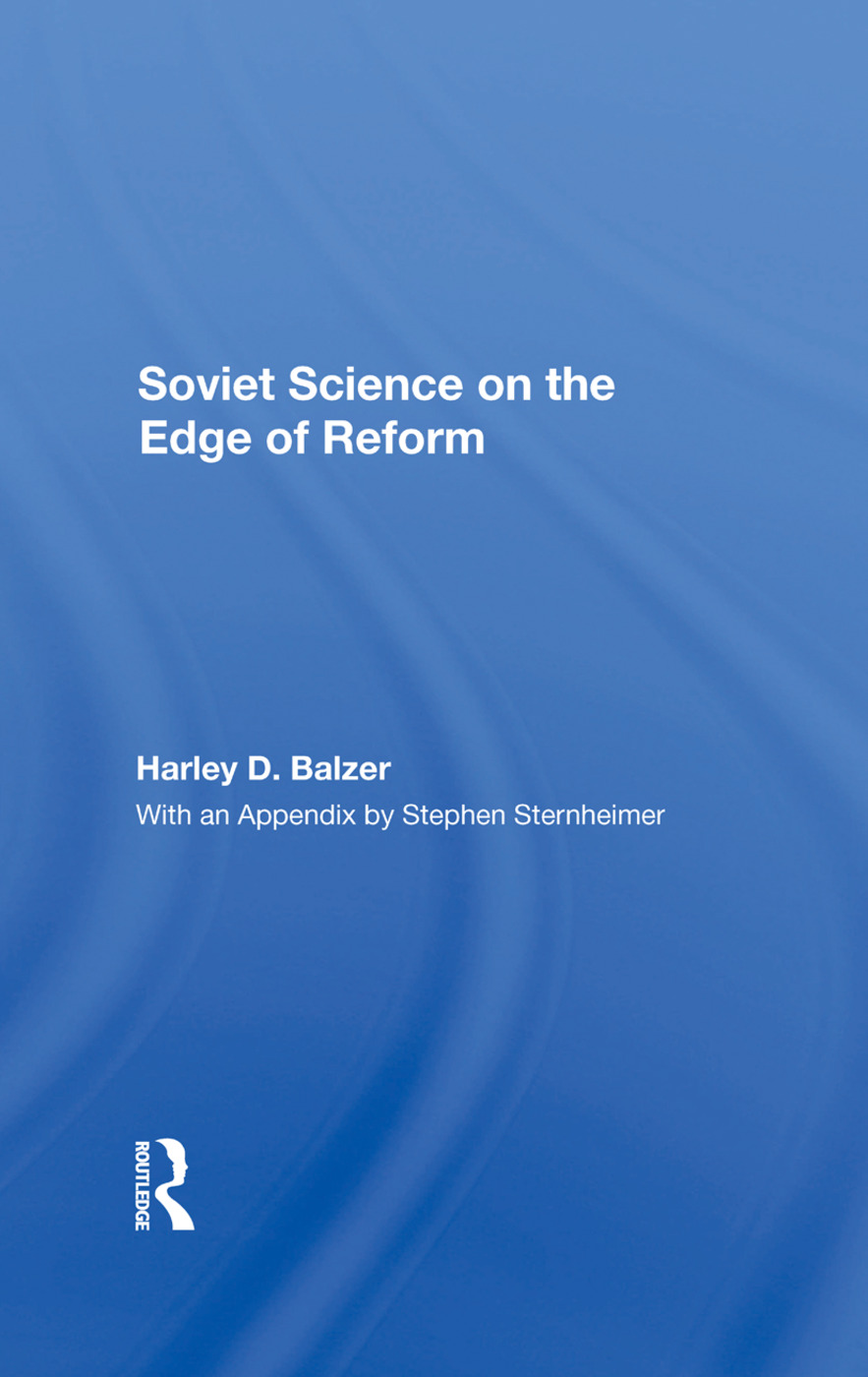 Soviet Science On The Edge Of Reform: 1st Edition (Hardback) book cover