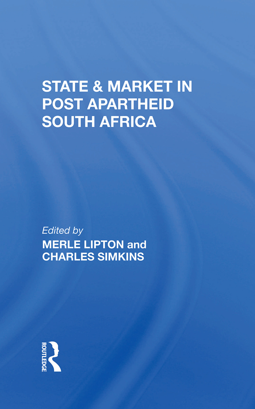 State And Market In Postapartheid South Africa: 1st Edition (Hardback) book cover