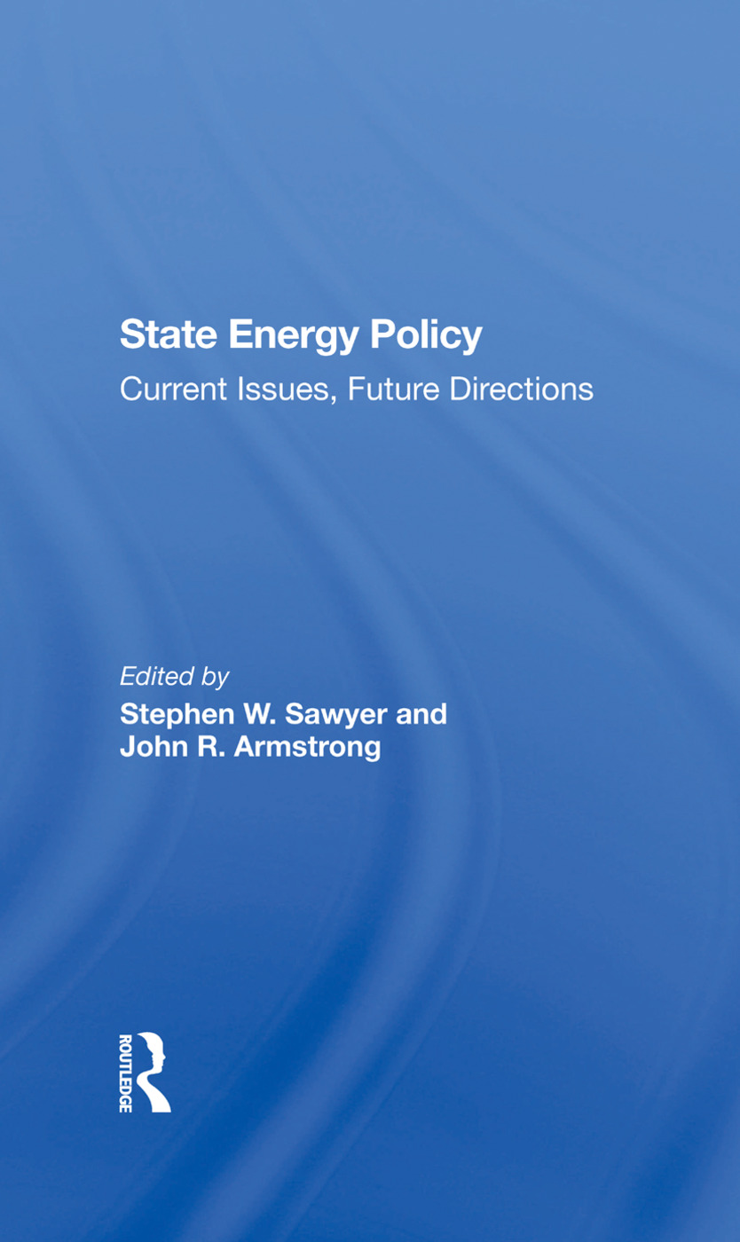 State Energy Policy: Current Issues, Future Directions book cover