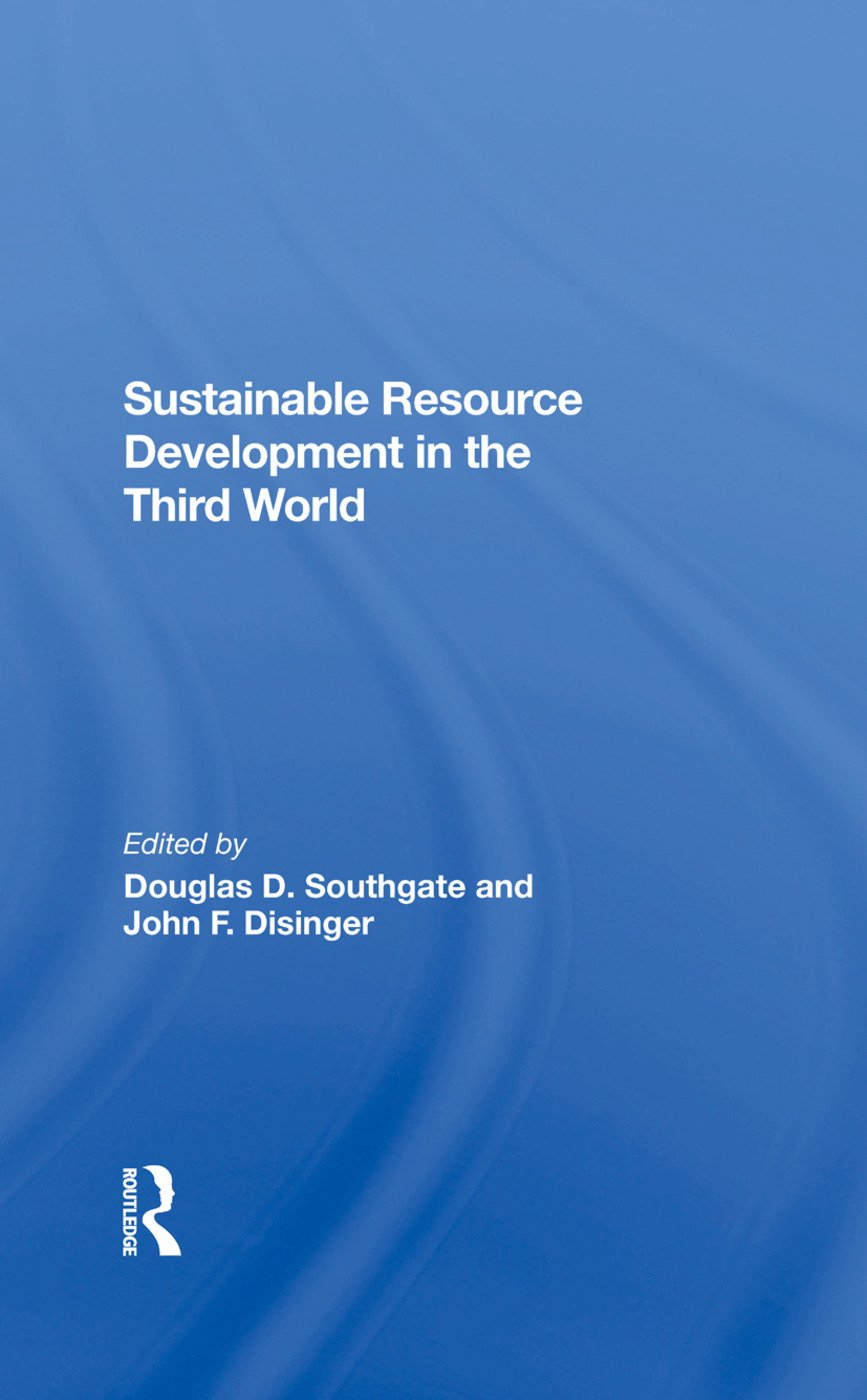 Sustainable Resource Development In The Third World: 1st Edition (Hardback) book cover