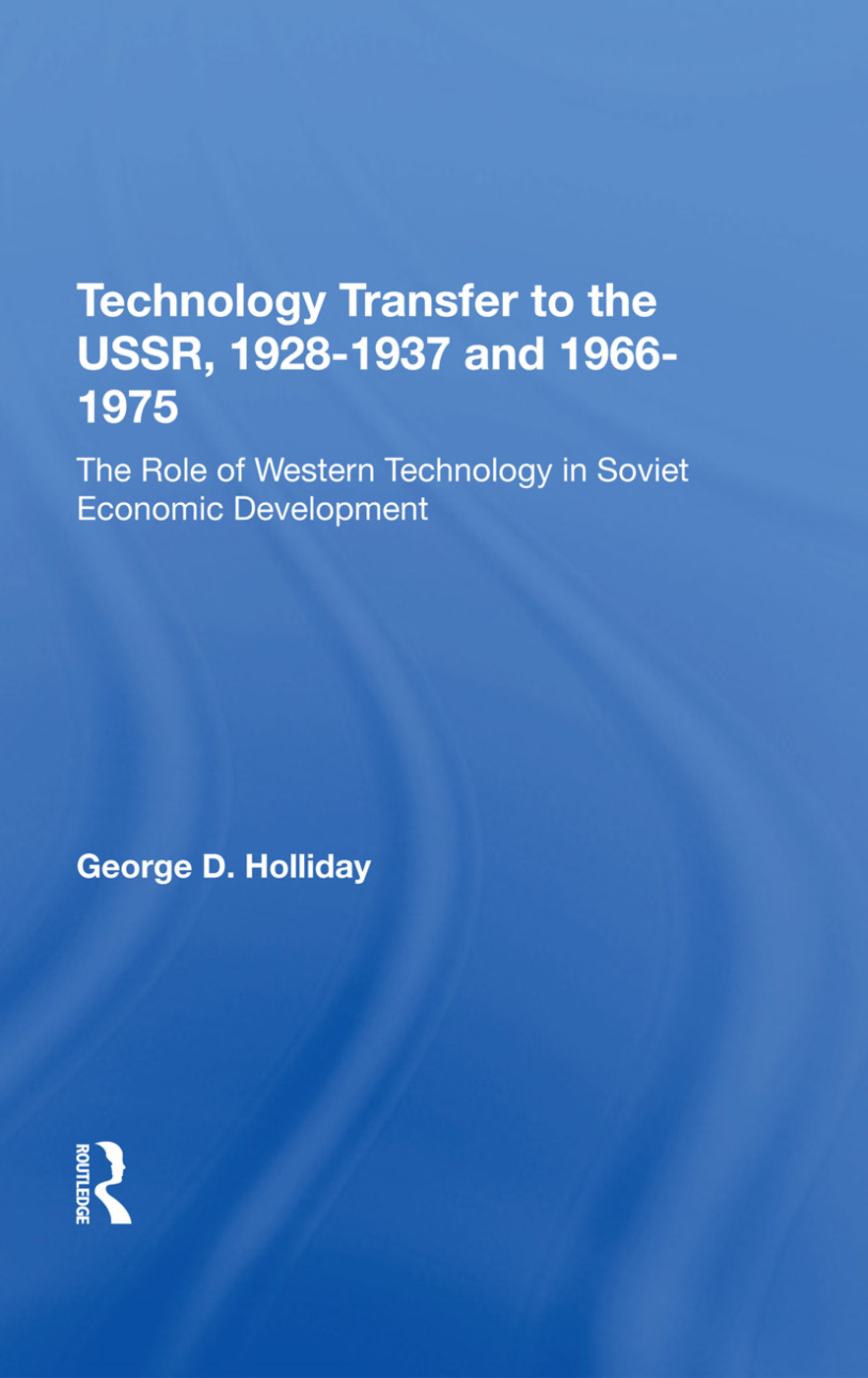 Tech Transfer Ussr/hs: 1st Edition (Hardback) book cover