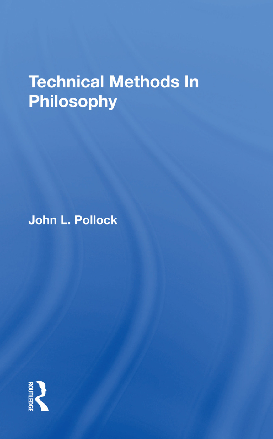 Technical Methods In Philosophy book cover