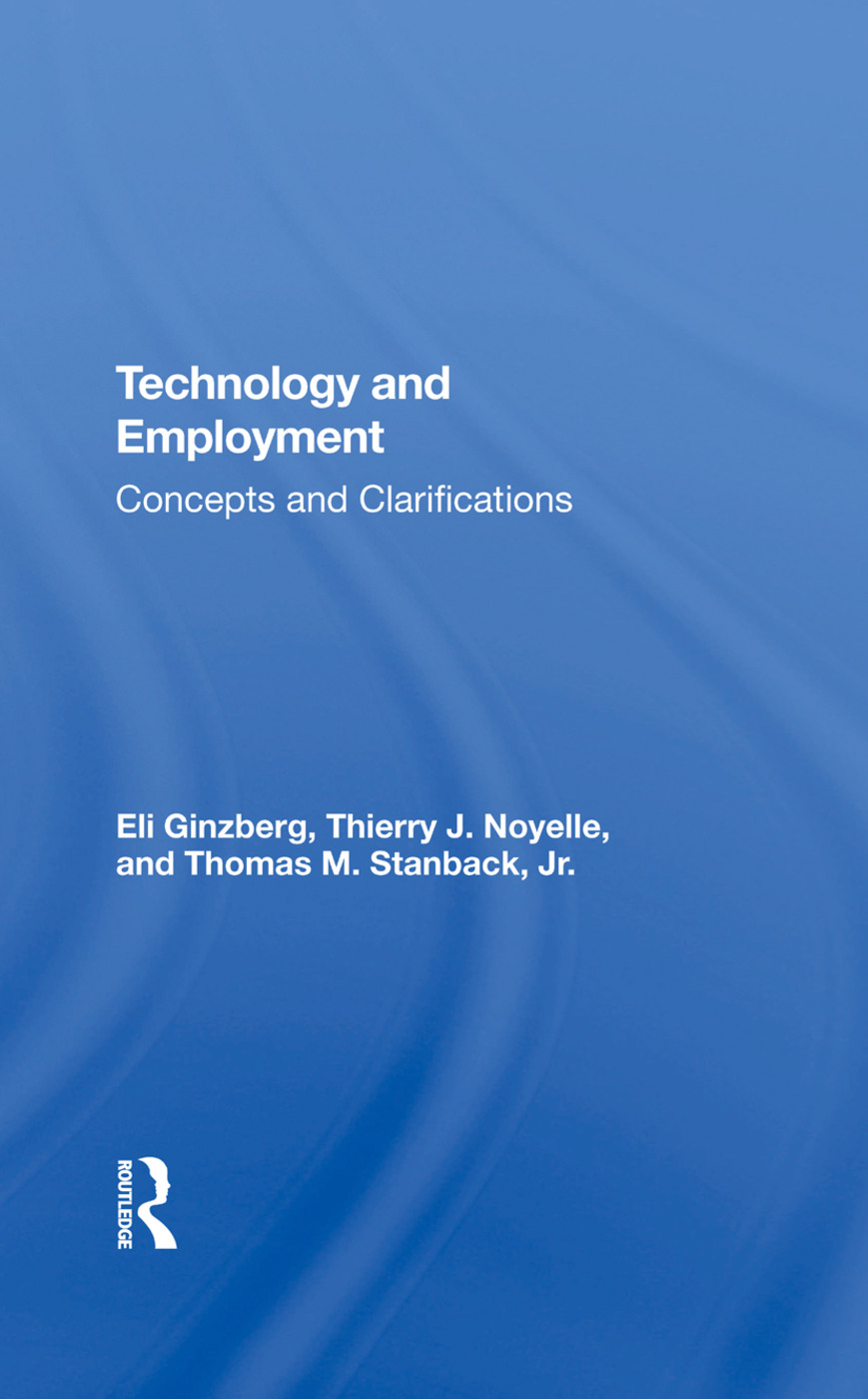 Technology And Employment: Concepts And Clarifications book cover