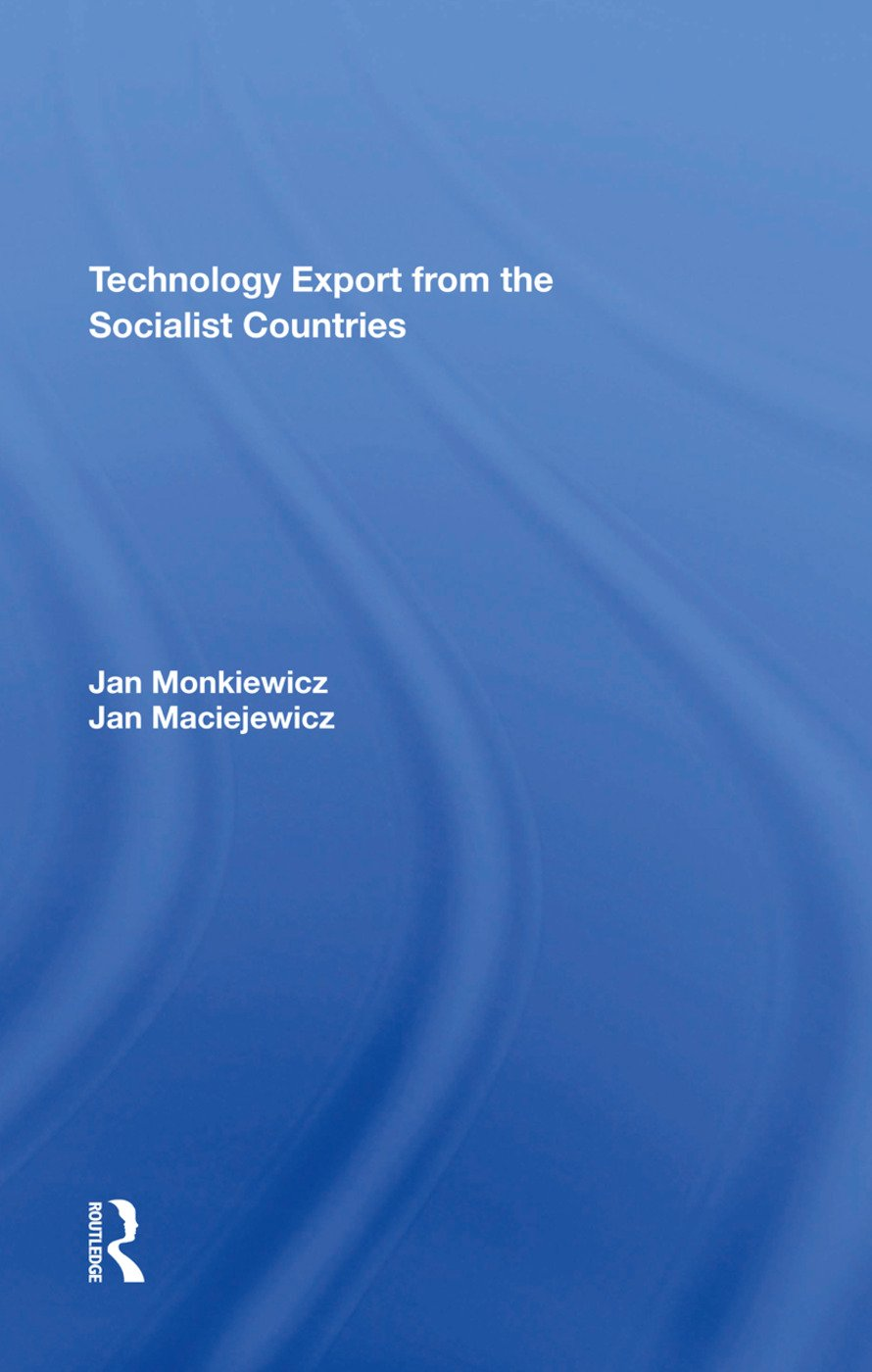 Technology Export From The Socialist Countries: 1st Edition (Hardback) book cover