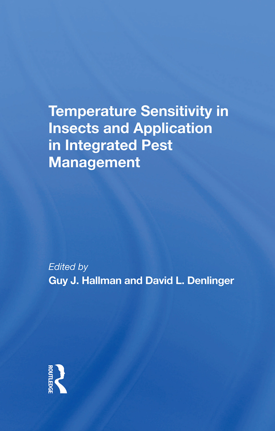 Temperature Sensitivity In Insects And Application In Integrated Pest Management: 1st Edition (Hardback) book cover