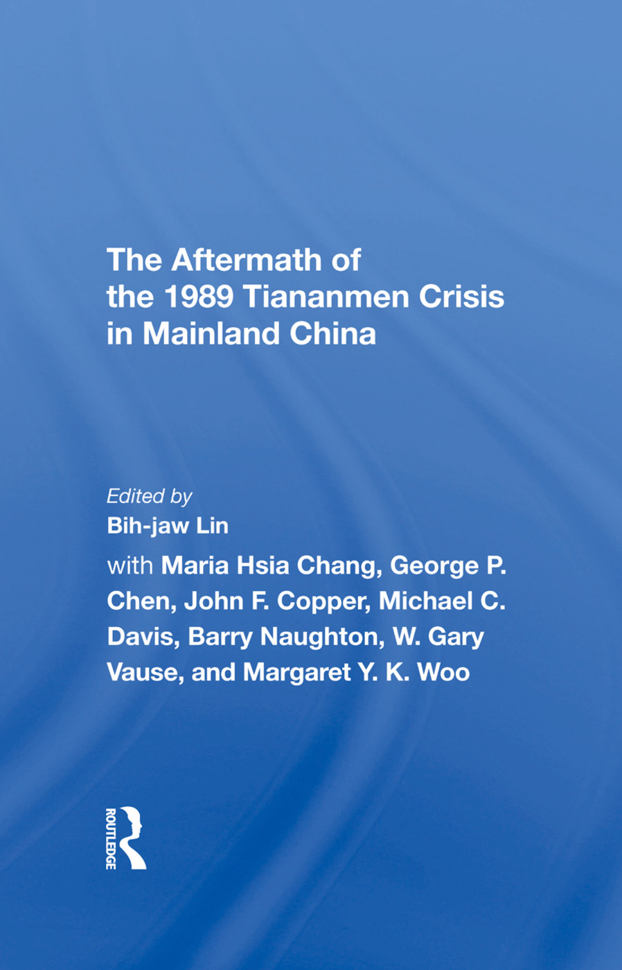 The Aftermath Of The 1989 Tiananmen Crisis For Mainland China book cover