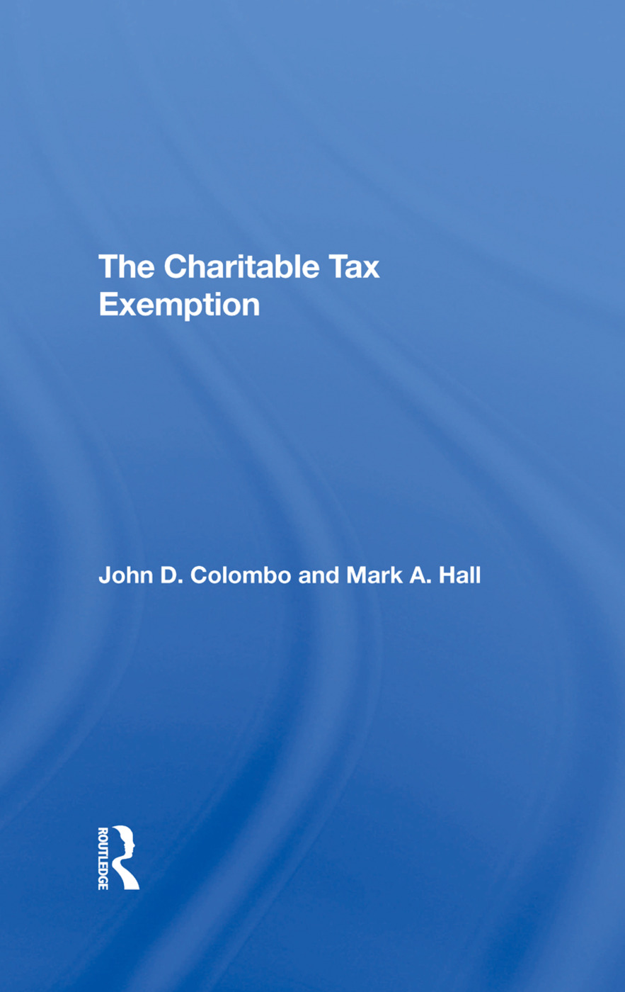 The Charitable Tax Exemption