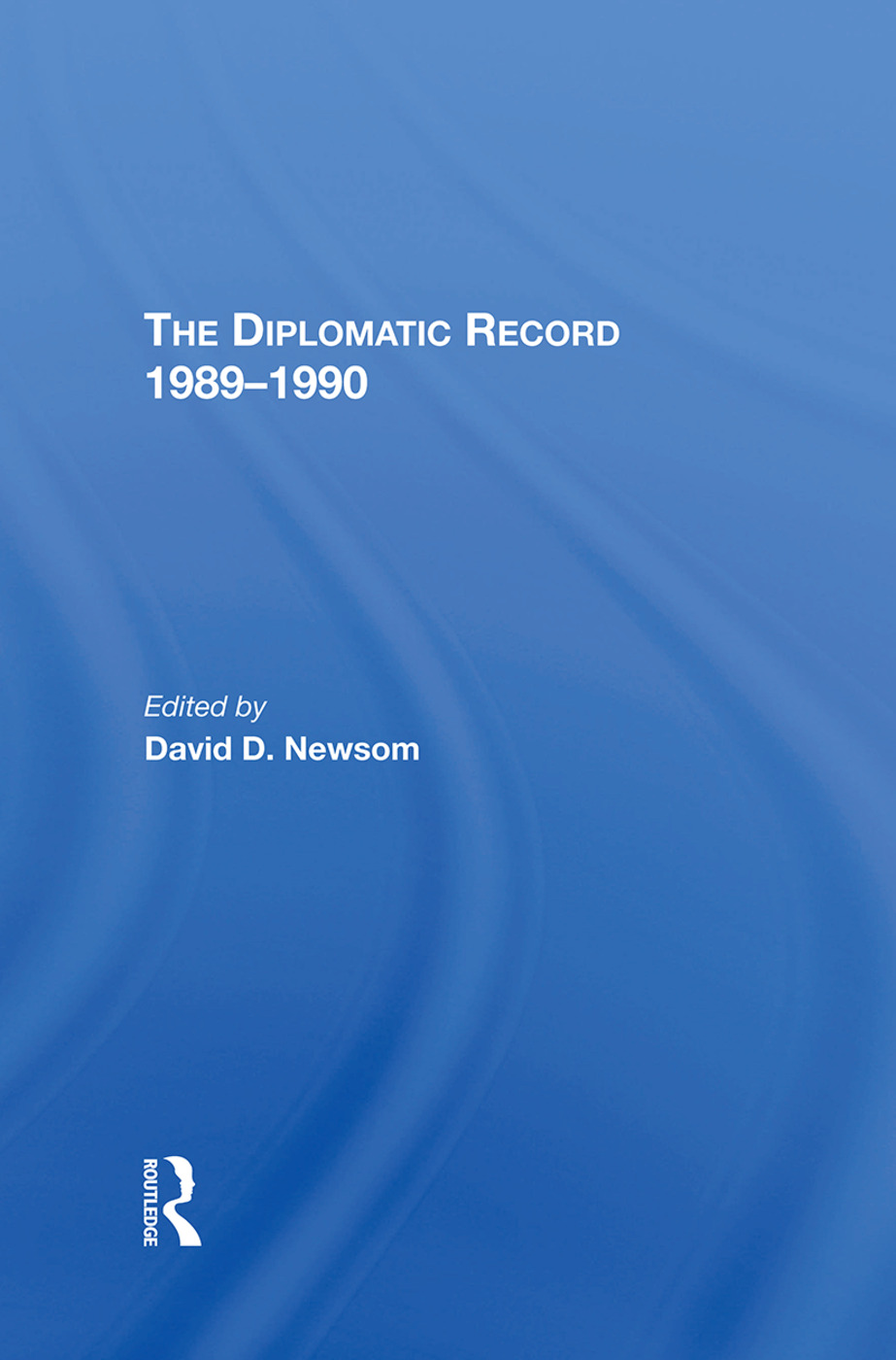 The Diplomatic Record 19891990: 1st Edition (Hardback) book cover