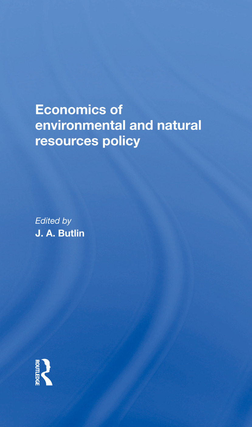 The Economics Of Environmental And Natural Resources Policy book cover