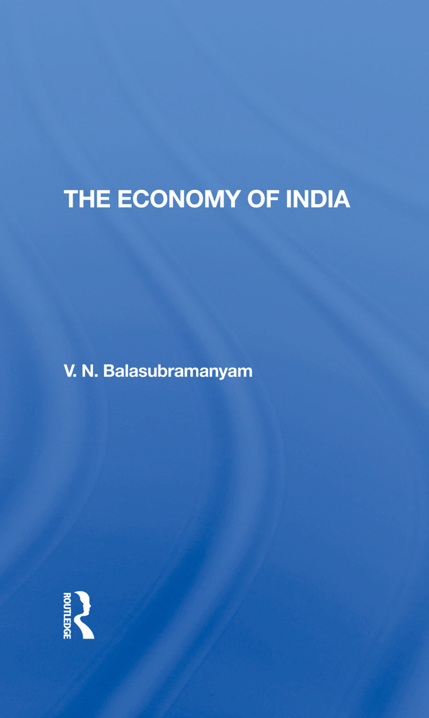 The Economy Of India book cover