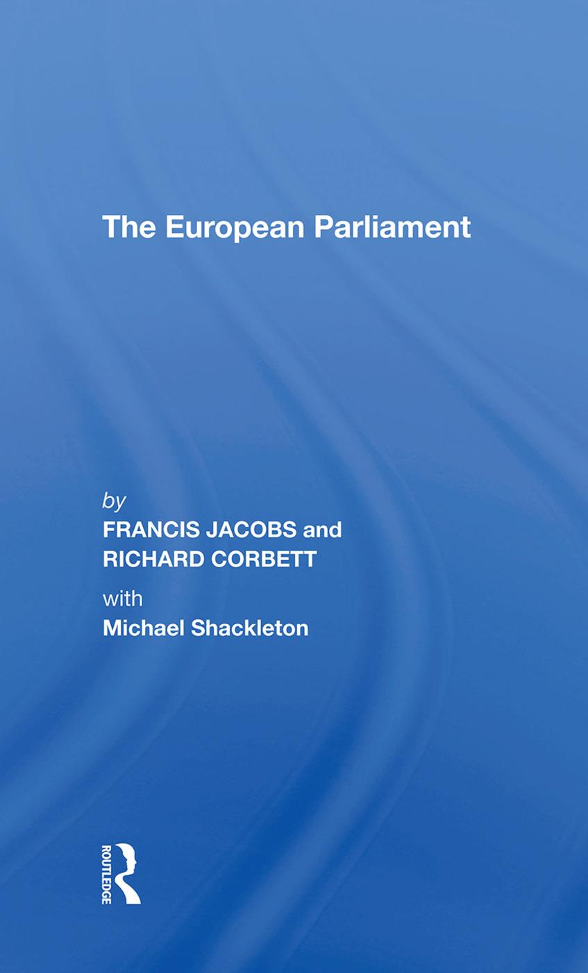 The European Parliament book cover