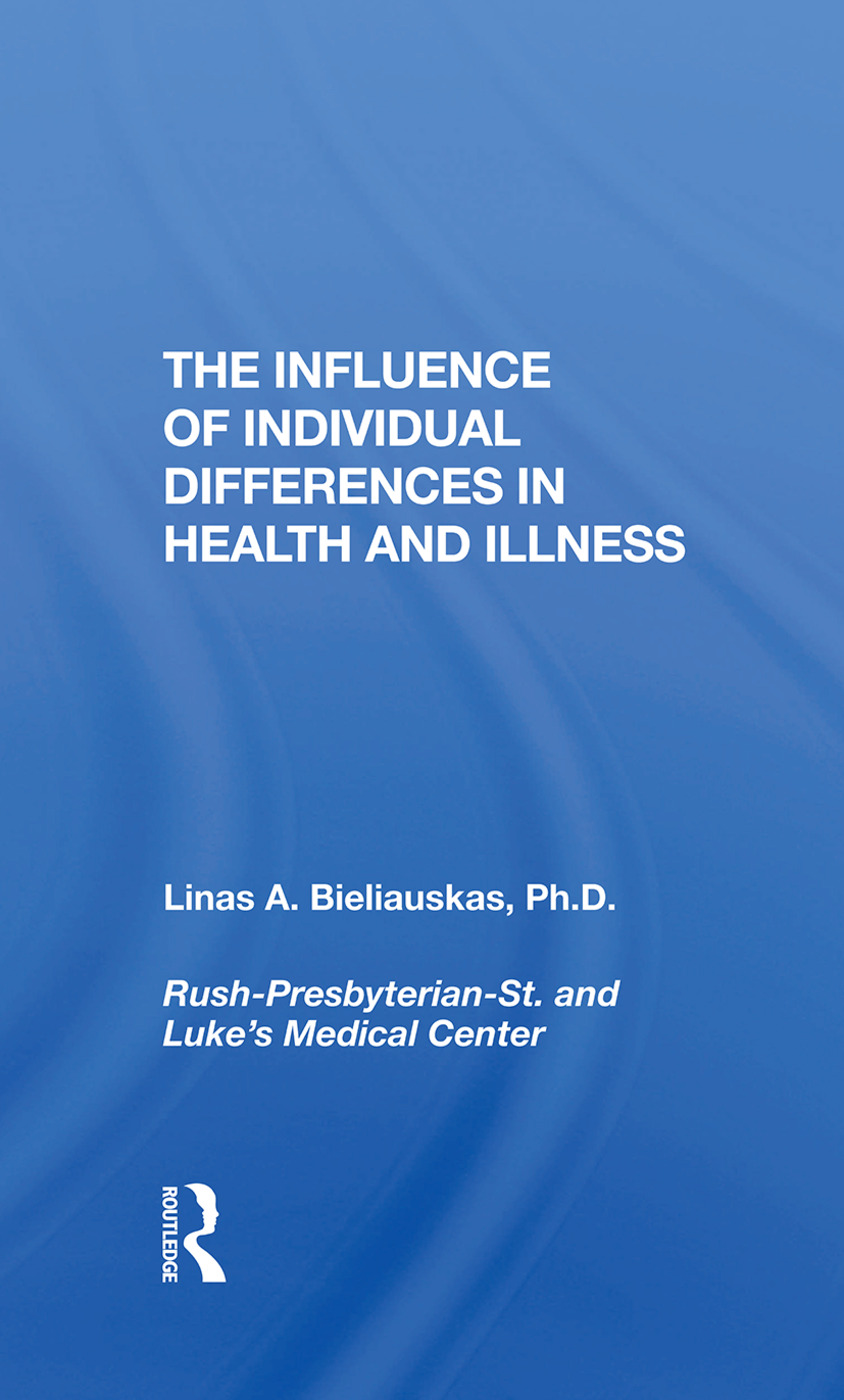 The Influence Of Individual Differences In Health And Illness: 1st Edition (Hardback) book cover
