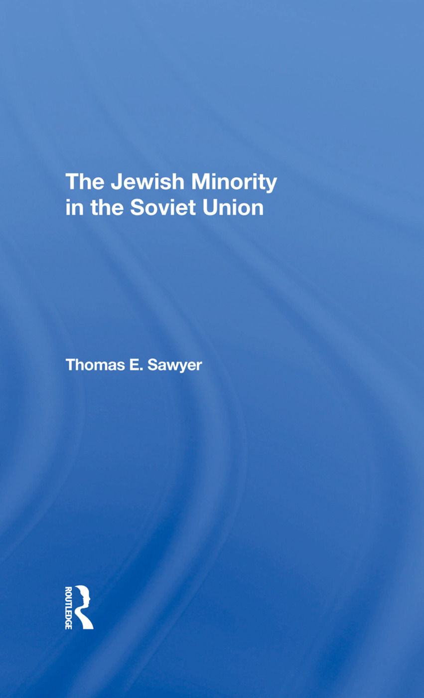 The Jewish Minority In The Soviet Union: 1st Edition (Hardback) book cover