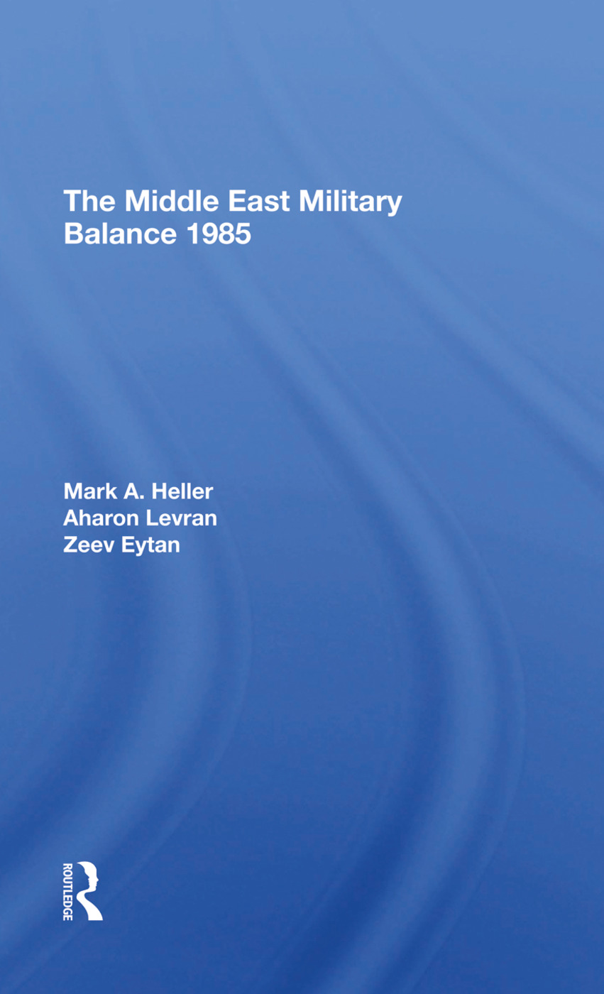 The Middle East Military Balance 1985: 1st Edition (Hardback) book cover
